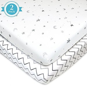 American Baby Company Twin Pack 100% Organic Cotton Interlock Fitted Crib Sheet