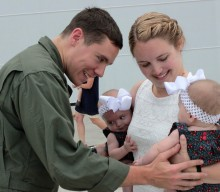 Military Man Meets his Twins for the First Time