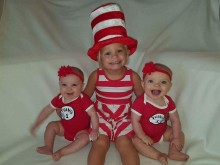 Cat in the Hat with Thing 1 & 2