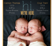 Top 20 Twin Birth Announcements From Pinterest