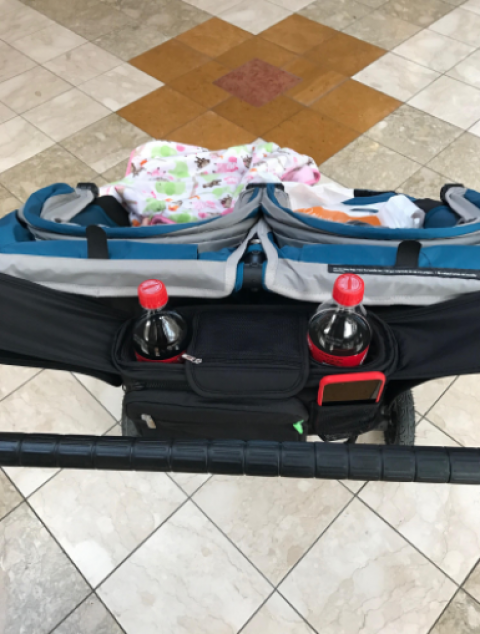Ethan & Emma On-The-Go Double Stroller Organizer