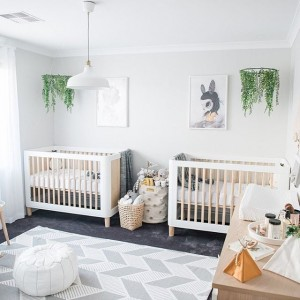... Most Coveted Living Design Accent Around These Days. You Can Give A  Floral Theme To The Twinu0027s Nursery Or Either Arrange Some Artificial  Flowers Hanging ...