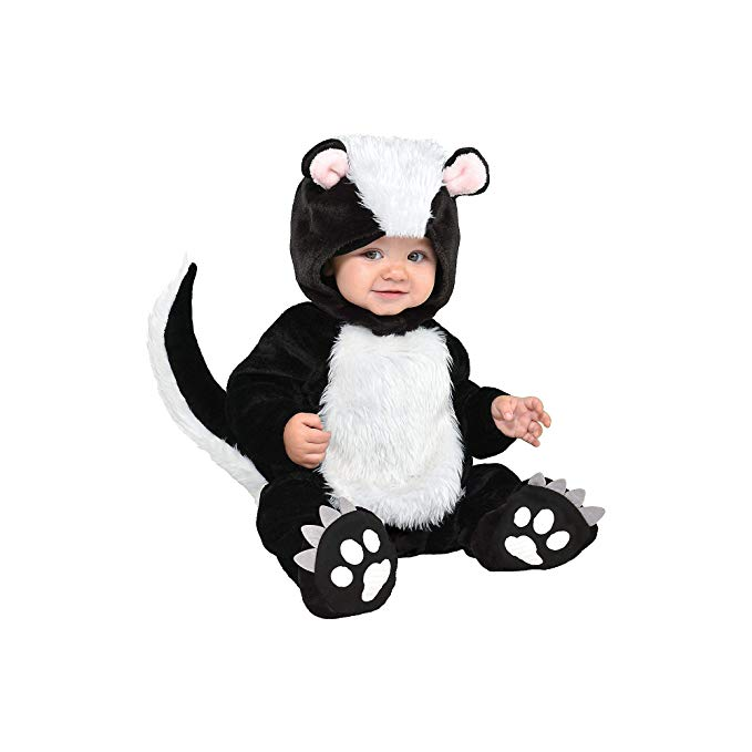 Suit Yourself Little Stinker Skunk Costume for Babies, Size 6-12 Months, Includes a Soft Jumpsuit, a Hood, and Booties