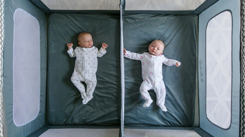 The Play Yard Designed with Twins in Mind